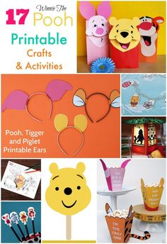 Winnie the Pooh inspired crafts and activities.