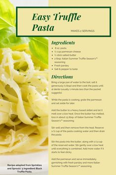 Truffle Popcorn, Truffle Pasta, White Truffle, Kernel Season's, Popcorn Seasoning, Yeast Extract, Italian Summer, Salted Butter
