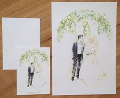 DLM illustrated thank you for cards for company Inlighten Photography- Illustration by Melissa Bailey
