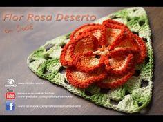 Flor em Crochê Rosa Deserto - Professora Simone - YouTube