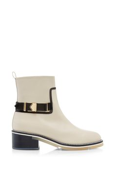Buckled Leather Chelsea Boots by Nicholas Kirkwood Now Available on Moda Operandi