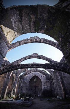 El cementerio de Cambados. España, Pontevedra, Galicia,