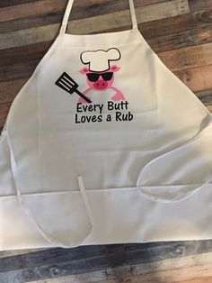 Every Butt loves a rub apron mens grilling apron Barbeque apron BBQ apron funny apron grilling apron Fathers Day apron Men BBQ apron by CustomCutiesByMimi on Etsy Funny Aprons For Men, Cute Aprons, Diy Father's Day Gifts, Father's Day Diy, Homemade Gifts For Men, Grill Apron, Bbq Apron, Funny Christmas Poems, Christmas Humor