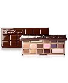 NEW Chocolate Bar Eyeshadow Palette « Too Faced Makeup « Mecca Cosmetica. I am a massive fan of Too Faced and this palette looks versatile, beautiful and. Eyeshadow Palette Too Faced, Shimmer Eyeshadow, Makeup Palette, Eyeshadow Makeup, Natural Eyeshadow, Chocolate Bar Eyeshadow, Chocolate Bar Palette, Chocolate Gold, Paleta Too Faced