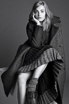 the gray lady: anna jagodzinska by lachlan bailey for wsj september 2014