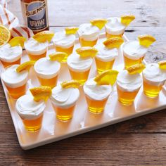 Moon Jell-O Shots Why a sip of pint of Blue Moon when you can throw it back like this?Why a sip of pint of Blue Moon when you can throw it back like this? Party Drinks, Fun Drinks, Yummy Drinks, Party Desserts, Beverages, Oktoberfest Party, Jello Shot Recipes, Alcohol Recipes, Fun Recipes