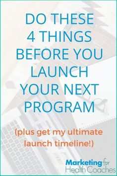 There's so much to do before launching a new program, or re-launching an old…