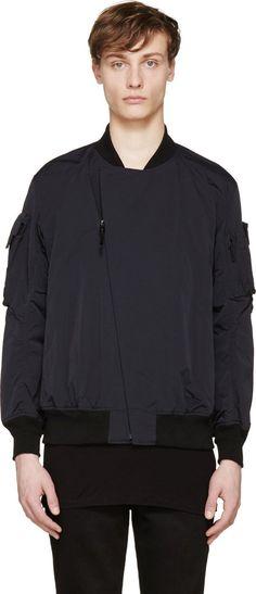 Lad Musician Navy & Black Bomber Jacket