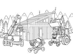 Construction Coloring Pages – Building sheet