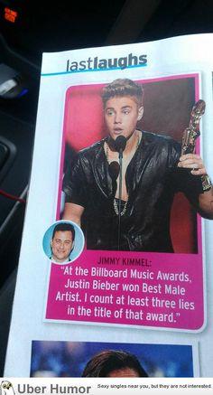 Jimmy Kimmel on Justin Beiber winning an award