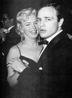 Marilyn Monroe & Marlon  Brando 1955