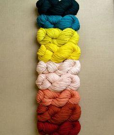 Linen Stitch Colorblock Wrap   Purl Soho - Create