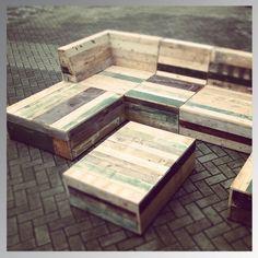 Lounge set sloop/steigerhout
