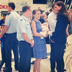 Duchess Kate: Kate in Nautical Stripes and Zara Blazer to Meet Military Families in Auckland