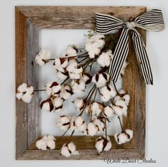 Cotton Boll Rustic Wall Decor Cotton Boll by WhiteDoorStudios