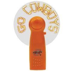 Oklahoma State Cowboys Handheld Fan Neon Light Message Fan