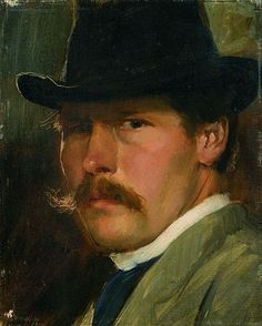 Paul Raud - Self Portrait with a Hat, 1900