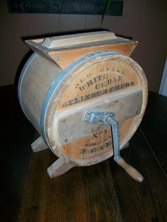 Antique Wooden Butter Churn 3 Gallon Cylinder by RedRiverAntiques, $125.00