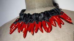 """Колье, бусы ручной работы. Ярмарка Мастеров - ручная работа. Купить Колье с кулонами """"Fire"""". Handmade. Ярко-красный, колье"""