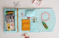 foldover sewing pouch pdf pattern