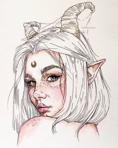 art inspo Rate this Which one is your favorite Artist: tessahnoreen Shared by Alexander_esin Email or DM for promotion/business us for more art: Art. Pencil Art Drawings, Art Drawings Sketches, Cute Drawings, Drawings Of Girls, Unique Drawings, Fantasy Drawings, Sketch Art, Tattoo Sketches, Fantasy Kunst