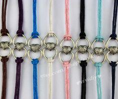 Xinxin wax rope bracelet charm color infinitely by vividiy on Etsy, $0.99