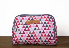 geometric printed canvas cosmetic/ toiletry by CassiaEssentiels
