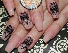 Nails Funky Nail Designs, Acrylic Nail Designs, Acrylic Nails, Henna Nail Art, Henna Nails, Hair And Nails, My Nails, Funky Nails, Nail Patterns
