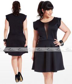 Vestido Plus Size Casuais Ou Festa S/renda Roupas Femininas - R$ 159,90