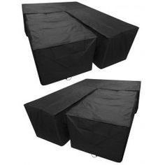 Woodside Black L Shape Rattan Dining Set Cover Sofa Covers, Table Covers, Long Sofa, Set Cover, Square Tables, L Shape, Dining Set, Outdoor Dining, Rattan