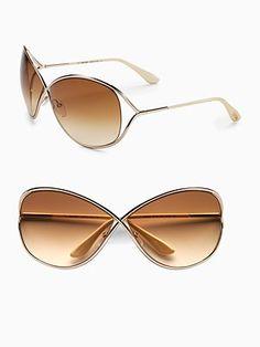 Tom Ford Eyewear Miranda Oversized Round Sunglasses - I love my Tommy! Tom Ford Miranda Sunglasses, Cat Eye Sunglasses, Summer Sunglasses, Hippie Bands, Tom Ford Eyewear, Oversized Round Sunglasses, Glasses Brands, Toms, Fashion Accessories
