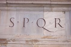 """SPQR is short for a Latin phrase - Senatus Populusque Romanus, meaning the """"Senate and the People of Rome"""". Through these letters we are reminded as to whom Rome truly belongs: the people. The words were symbolic of Rome's identity as a state belonging to the people and the Senate, whose members were selected by the Roman citizens."""