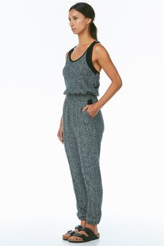 shades of grey sweatsuit jumpsuit