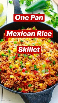 Rice Recipes, Side Dish Recipes, Mexican Food Recipes, Beef Recipes, One Dish Dinners, One Pot Meals, Rice Side Dishes, Main Dishes, Recipes