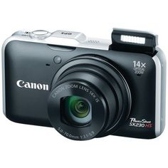 Canon PowerShot SX230 HS 12.1 MP CMOS Digital Camera with 14x Image Stabilized Zoom 28mm Wide-Angle Lens and 1080p Full-HD Video (Black) by Canon. $214.99. From the Manufacturer                   Experience the Power.  Canon's HS SYSTEM with a 12.1 Megapixel CMOS and DIGIC 4 Image Processor improves shooting in low-light situations without the need for a flash and lowers noise levels at higher ISO settings. The Canon HS SYSTEM takes the frustration out of low light shooting. The...