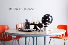 One Charming Party   Birthday Party Ideas › halloween school party: science station