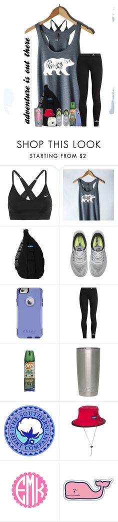 """""""hiking contest entry (:"""" by arieannahicks ❤ liked on Polyvore featuring NIKE, Kavu, OtterBox, adidas, Vineyard Vines and Fujifilm"""