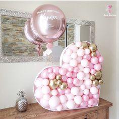 Best Indoor Garden Ideas for 2020 - Modern Birthday Balloon Decorations, Valentines Day Decorations, Birthday Balloons, Valentines Balloons, Christmas Balloons, Balloon Flowers, Balloon Bouquet, Diy Birthday, Birthday Parties