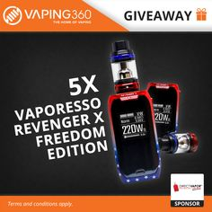 5 x Vaporesso Revenger X Limited Freedom Edition Giveaway by DirectVapor