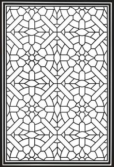Welcome to Dover Publications Geometric Genius Stained Glass Coloring Book Coloring Book Pages, Printable Coloring Pages, Coloring Pages For Kids, Coloring Sheets, Geometric Coloring Pages, Mandala Coloring, Motifs Islamiques, Motif Art Deco, Dover Publications