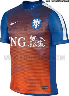 This is the new Netherlands 2015 Pre-Match Soccer Jersey. Sexy
