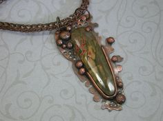Red Creek Jasper and Copper Handmade by SilverSeahorseDesign, $65.00