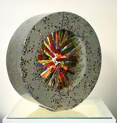 julianne-kravitz-commission-2010 Cement Art, Concrete Art, Concrete Projects, Mosaic Projects, Concrete Sculpture, Sculpture Art, Mosaic Art, Mosaic Glass, Fused Glass Art
