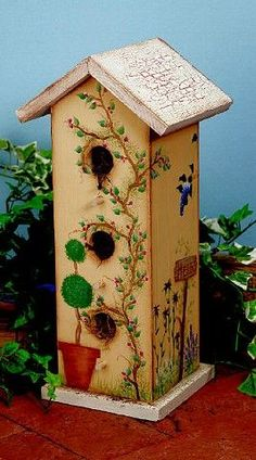 tole painted birdhouses | Birdhouse with a View project from DecoArt