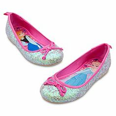 Disney Anna and Elsa Flat Shoes for Girls - Frozen | Disney StoreAnna and Elsa Flat Shoes for Girls - Frozen - She'll always step into adventure wearing our Frozen Flat Shoes for Girls, featuring silvery glitter uppers, satin trims and lovely Anna and Elsa art on the insoles.