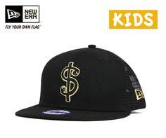ニューエラ×マークゴンザレスキッズメッシュスナップバックキャップトラッカーブラック帽子NEWERA×MARKGONZALESKIDS9FIFTYMESHSNAPBACKCAPTRUCKERBLACK[キャップneweracapニューエラキャップ子供用小さいサイズメンズレディース][BK]#KD