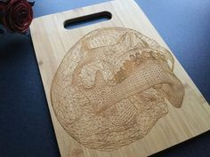 Personalized Laser Engraved Bamboo Cutting Board by AFamilyForest