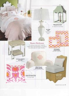 What to use to create the perfect summer bedroom. oomph Hobe Sound Lantern and the raffia scalloped slipper chair!