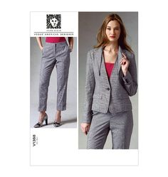 V1388, Misses' Jacket and Pants