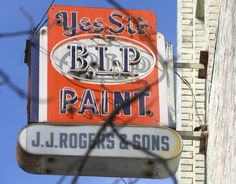 This is one of the many vintage signs on the JJ Rogers building in downtown Tupelo. Photo courtesy of the Northeast Mississippi Daily Journal.